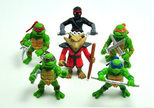 Hot seling 6Pcs/lot Teenage Mutant Ninja Turtles TMNT Action Figures Toy Set Classic Collection Free shipping