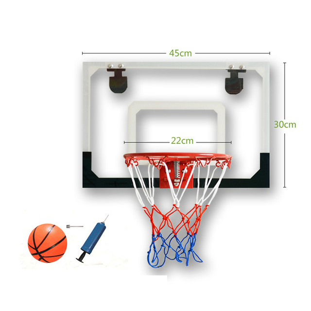 Indoor Adjule Hanging Basketball Netball Hoop Box Miniature Sport Backboard Goal Door For Children Kids
