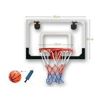 Indoor Adjustable Hanging Basketball Netball Hoop Basketball Box Miniature Sport Backboard Game Goal Door For Children Kids