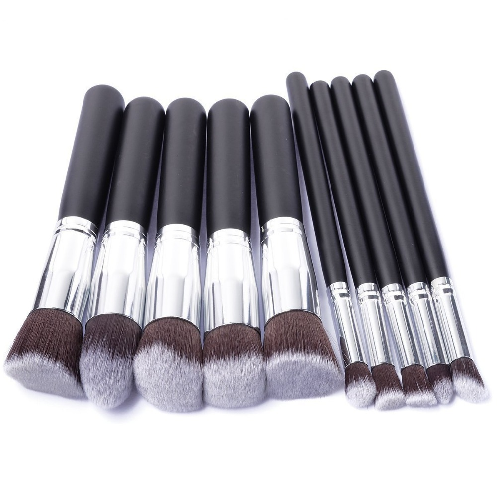 10 Pcs Silver/golden Makeup Brushes Set Pincel Maquiagem Cosmetics  Maquillaje Makeup Tool Powder Eyeshadow Cosmetic Set #5