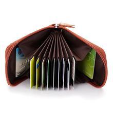 Unisex orgel kartenbeutel 2016 mode kreditkartenetui echtes leder tasche business männer multi-card-bit china frauen tasche halter h36