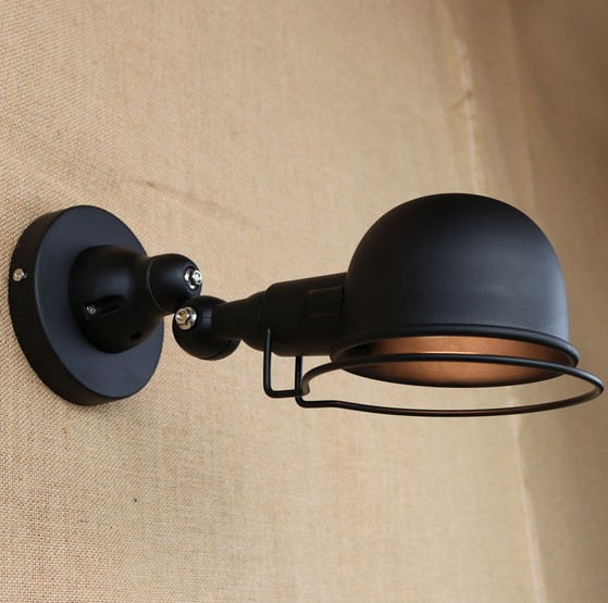 Loft Style Vintage Wall Sconce Industrial Wall Lamp Iron Arm LED Wall Light For Home Lighting Lamparas De Pared Arandela concise style modern wall light lamp led for home lighting wall sconce arandela lamparas de pared