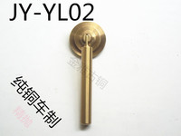 Read pear Chinese antique furniture handle copper door handle round handle knob mahogany copper fittings