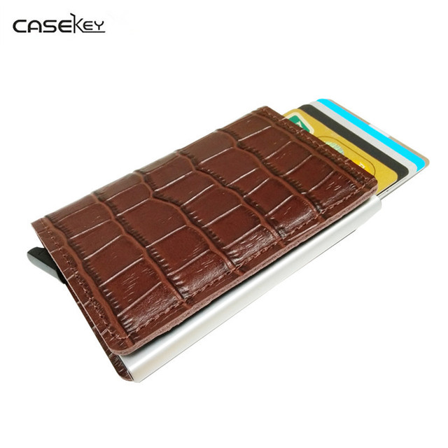 CaseKey Anti Rfid Blocking Reader Lock Metal Card Holder Aluminium - Porte carte anti rfid