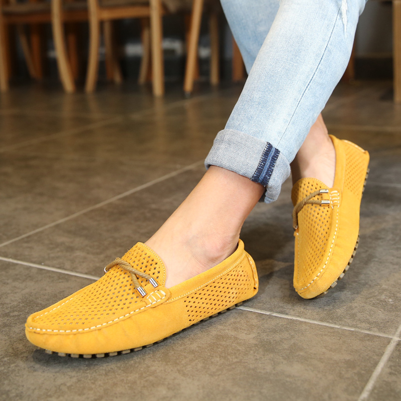 NORTHMARCH Mens Loafers Leather Fashion Men Summer Shoes Slip-On Driving Shoes Breathable Men Casual Shoes Sepatu Kulit Pria