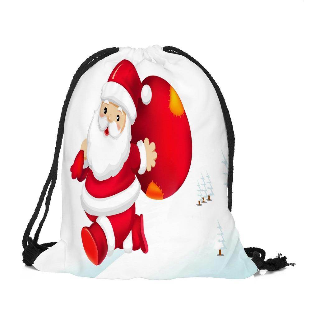 Sleeper #5001 2018 New Fashion Merry Christmas Candy Bag Satchel Rucksack Bundle Pocket Drawstring Bag Hot Sale Free Shipping
