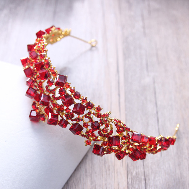 Hair Accessory With Red Crystals