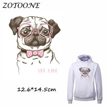 ZOTOONE  Dog Patches Heat Transfer Patch Iron on Patches for Clothes Beaded Applique Clothes DIY T Shirt Accessory Decoration C цена