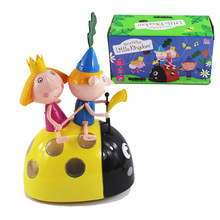 Electronics Car Cartoon Ben and Hollys Little Kingdom Anime Action Figure Toys PVC Characters Figurines Toys for Kids Party Gift