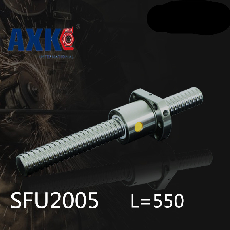 Rolamentos Ball Screws 2005 -l 550mm + 1pcs Sfu2005 Single Ballnut / End Machining Is Optional For Cnc Linear Working Table niko 50pcs chrome single coil pickup screws