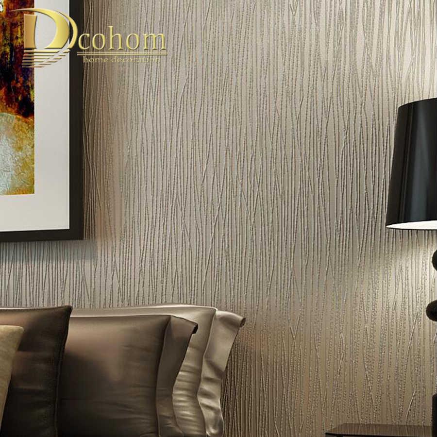 Simples luxo moderno papel de parede listrado para paredes 3 d quarto sala estar sofá tv fundo rosa bege listras rolos