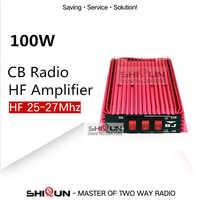 100W HF amplificador CB amplificador de potencia para Radio Walkie Talkie amplificador CB 100W HF 25-27MHZ automática recibir/transmitir interruptor BJ-300