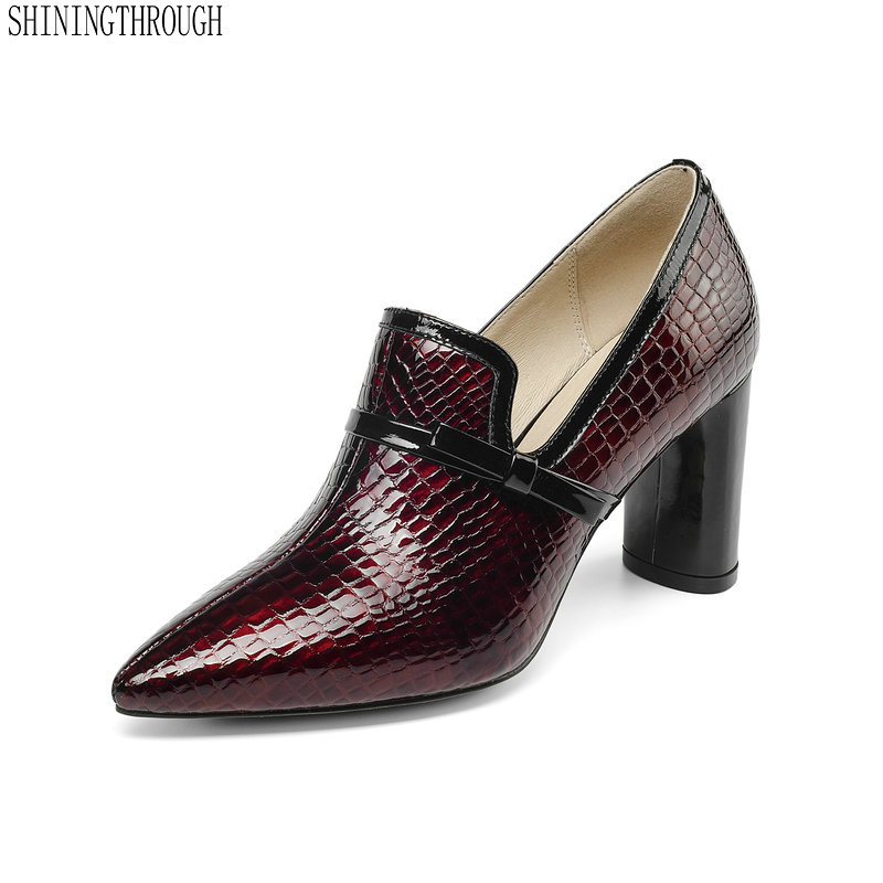 Classic Women Brand Genuine Leather bowties Pumps Med High Heeled Autumn Office Pumps Female Wedding Shoes