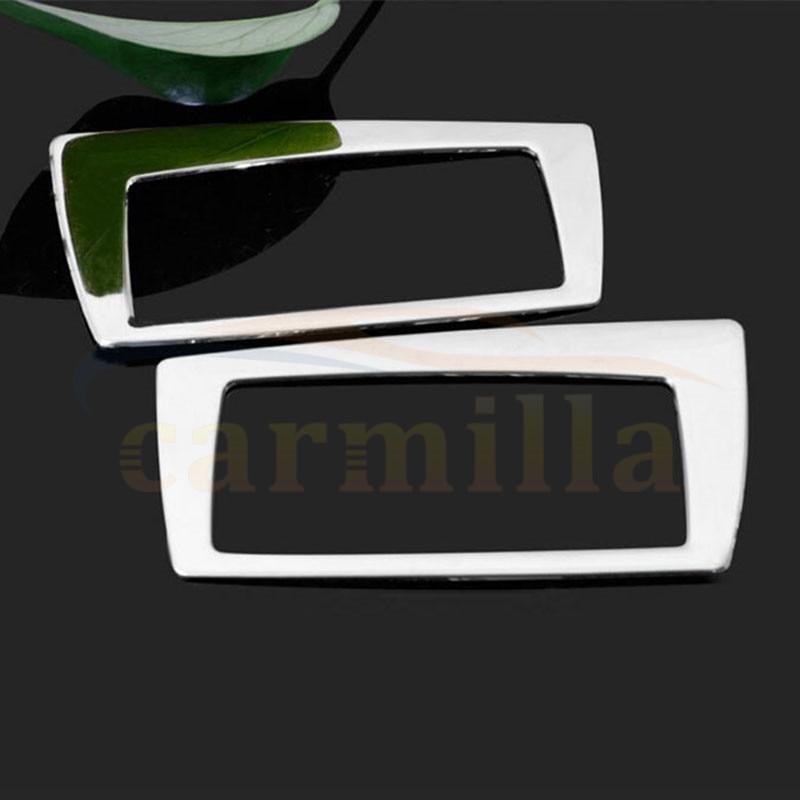 2 Pieces/Set Car Door Armrest Ashtray Cigarette Box Cover Trim Sticker For BMW X1 F48 2016 2017 Car Accessories ashtray