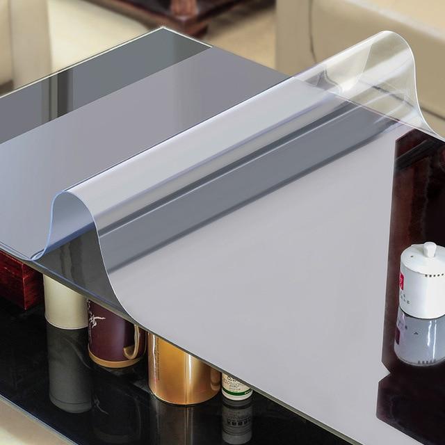 weichglas tischdecke wasserdichten transparent pvc tischdecke f r quadratischen tisch abdeckung. Black Bedroom Furniture Sets. Home Design Ideas