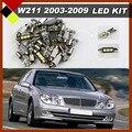 Canbus Белый Внутреннее Освещение LED Пакет Комплект Перчаточный Ящик Автомобиля Камера Номерного знака Дверь Лампы Подходит W211 E Class 2003-2009