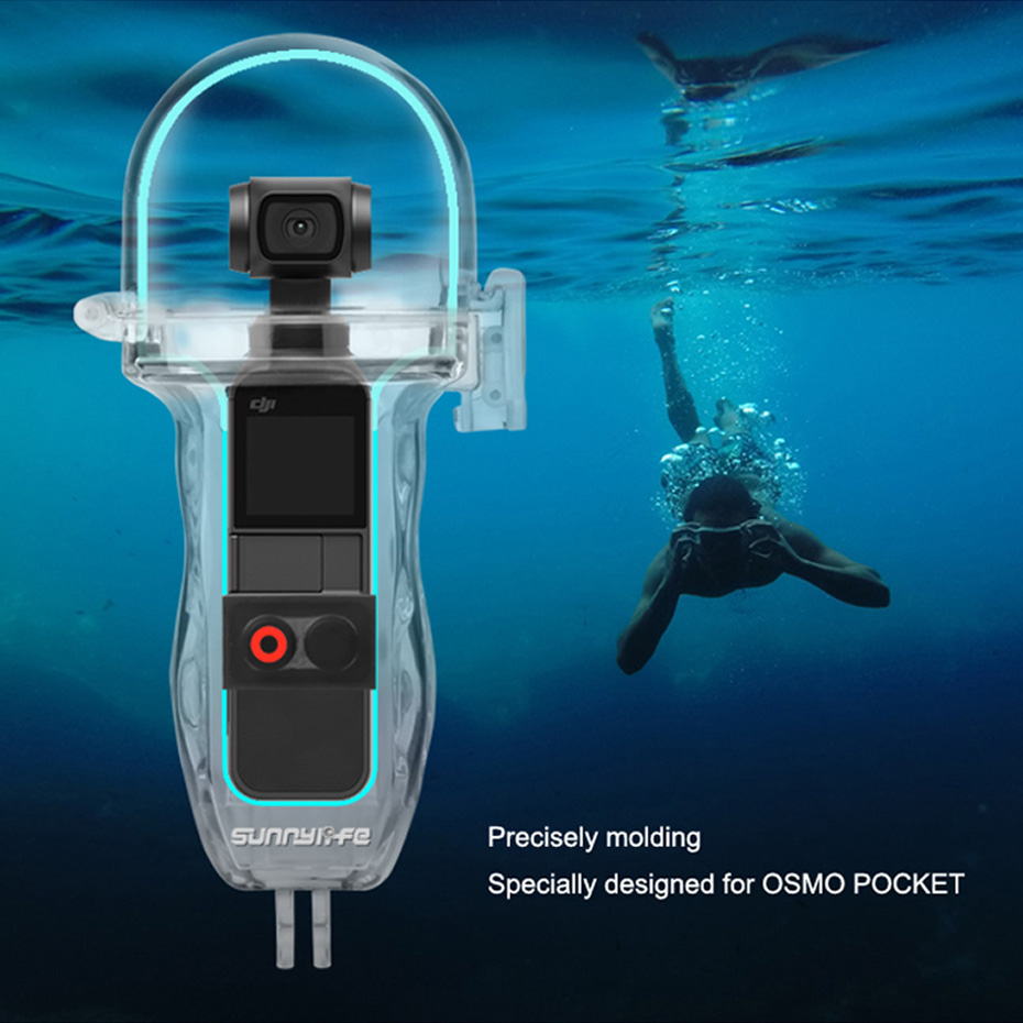 For OSMO POCKET Handheld Camera Diving Accessories Shooting Protective Camera Cases For DJI Osmo Pocket Waterproof Housing 60M