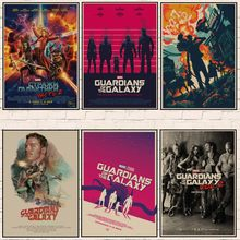 Vintage Retro Movie posters Guardians of the Galaxy Poster Wall stickers Kraft Paper Home Bar Coffer Decor Room decoration A2(China)