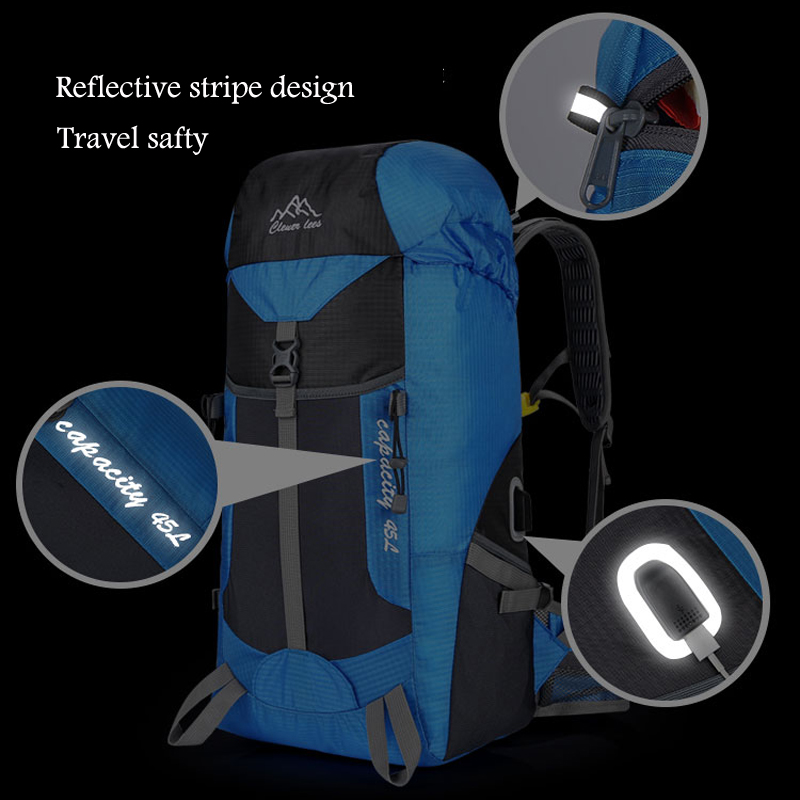 Hot Outdoor Bag Camping Hiking 45L Hiking Backpack Outdoor Backpacks Nylon Sport Bag Multi-purpose Climbing Bags 4