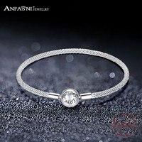 ANFASNI Fashion Authentic Forever Love Bracelet For Women Fir Original Bangle Pave Cubic Zirconia Charm Jewelry PSBR0037