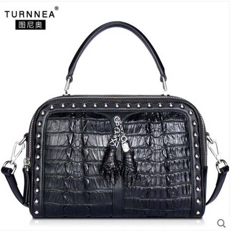 tuniao new 2017 crocodile Women's handbag genuine leather shoulder bag with genuine alligator skin bag крем tony moly the chok chok green tea watery cream