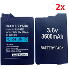 2Pcs Battery for Sony PSP2000 PSP3000 PSP 2000 PSP 3000 Gamepad PlayStation Transportable Controller 3600mAh New Replacment Batteries
