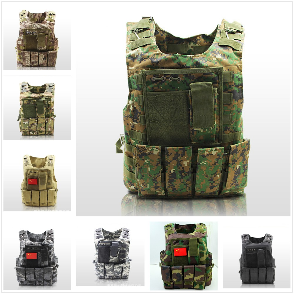 USMC Airsoft Military Tactical Vest Molle Combat Assault Plate Carrier Tactical Vest 10 Colors CS Outdoor Clothing Hunting Vest