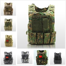 USMC Airsoft Military Tactical Vest Molle Combat Assault Plate Carrier Tactical Vest 10 Colors CS Outdoor Clothing Hunting Vest жилет армейский no molle cs