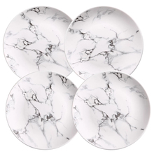 4 pcs set 6 or 8 10 inch Marble dinner plates ceramic tableware marble dinnerware