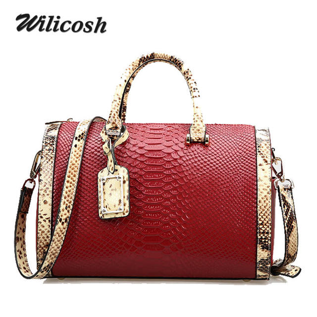 Wilicosh 2017  New Genuine Leather Women Fashion Bag