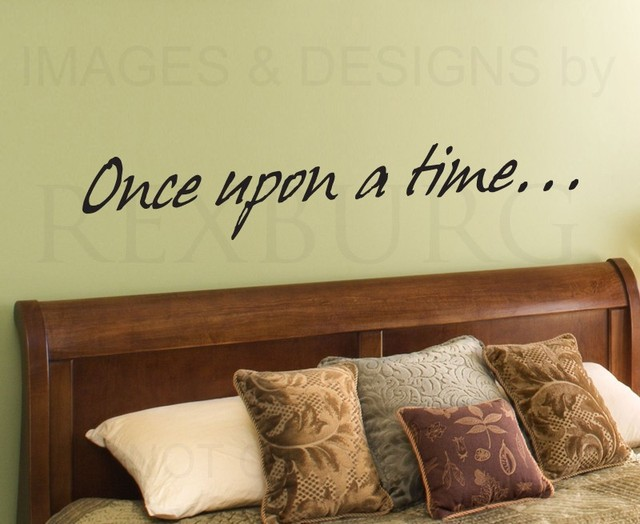 Home Wall Decal Sticker Quote Vinyl Art Lettering Once Upon a Time ...