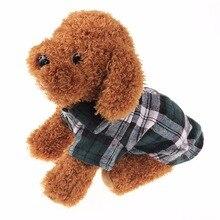 Модная клетчатая Одежда для собак летняя рубашка для собак повседневные топы для собак Одежда для собак и щенков одежда для домашних животных для маленьких собак новейшая