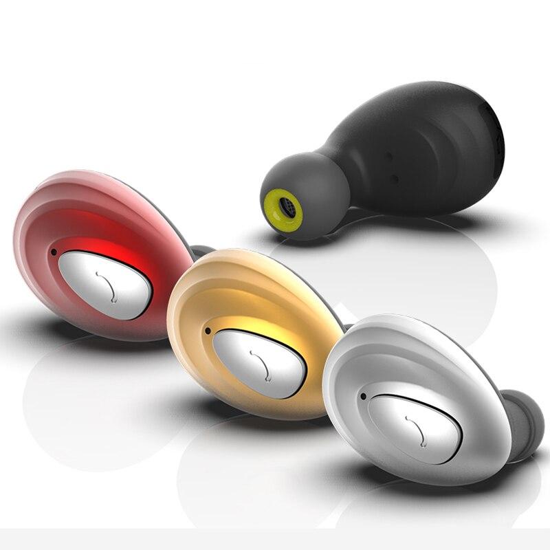 K1S Mini Bluetooth Kopfhörer mit Mic Wireless Headset Musik Ohrhörer Bluetooth V4.1 Noise Cancelling für Iphone, Xiaomi, Samsung