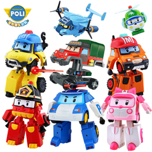 2pcs/4pcs/6pcs/Set Robocar Poli Korea kids Toys Acion Figure Robot Car Transformation Poly Gift For Children