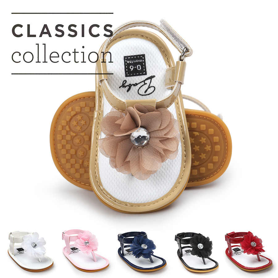 Baby Girls Shoes Floral Princess Beautiful Flower Sandals Flat Roman Non Slip Soft Sole Sneakers Newborn Infant