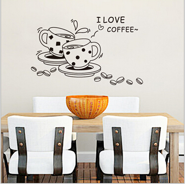 Saya Kopi Cangkir Dinding Decal Removable Kreatif Wall Sticker Dapur Modis Cafe Restaurant Dekorasi Tahan Air Di Stickers Dari Rumah