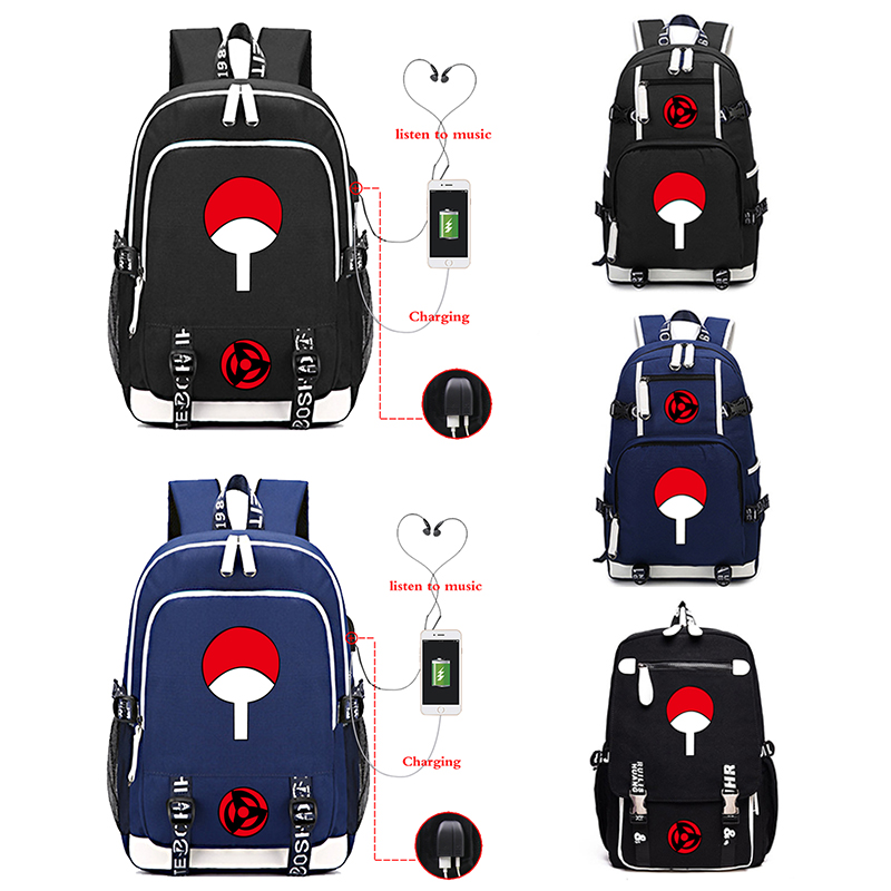 Naruto USB Charging Bagpack Male/female Travel Backpacks Computer Backpack Casual Style Bags Unisex College Schoolbags Rucksack