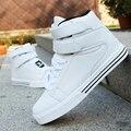Мода новая зимняя осень шнурка фронта до свободного покроя ботильоны зима спорт мужская обувь водонепроницаемый клин хип-хоп обувь