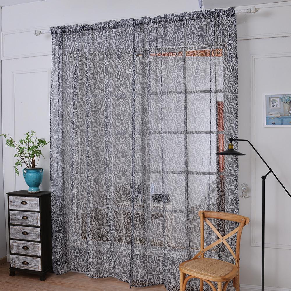 dormitorio romntico barato terminados ventana de organza nio patrn de cebra cortina para sala de