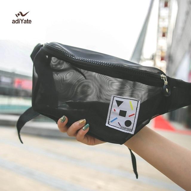 Adiyate Mesh Transpa Pack Cloth Bag For Women Clear