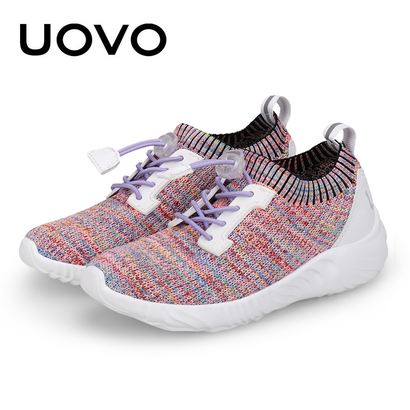 UOVO 2018 NEW Children Weaving Shoes Breathable Boys & Girls Sneakers Fashion Spring & Autumn Sports Casual For Kids Size 31-39