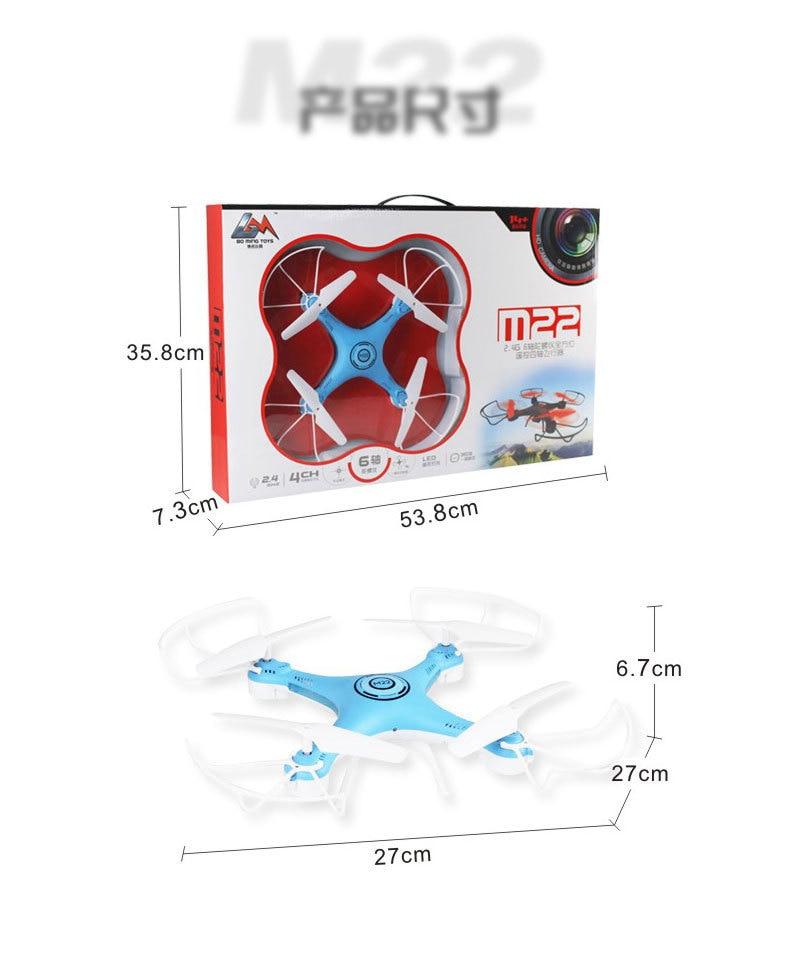 Mini RC quadrirotor jouets avec 0.2mp caméra sans tête LED pour enfants garçons dron télécommande drone cadeau - 6