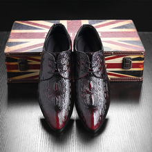 Plus Size 38-48 Crocodile Pattern Men Shoes Dress S