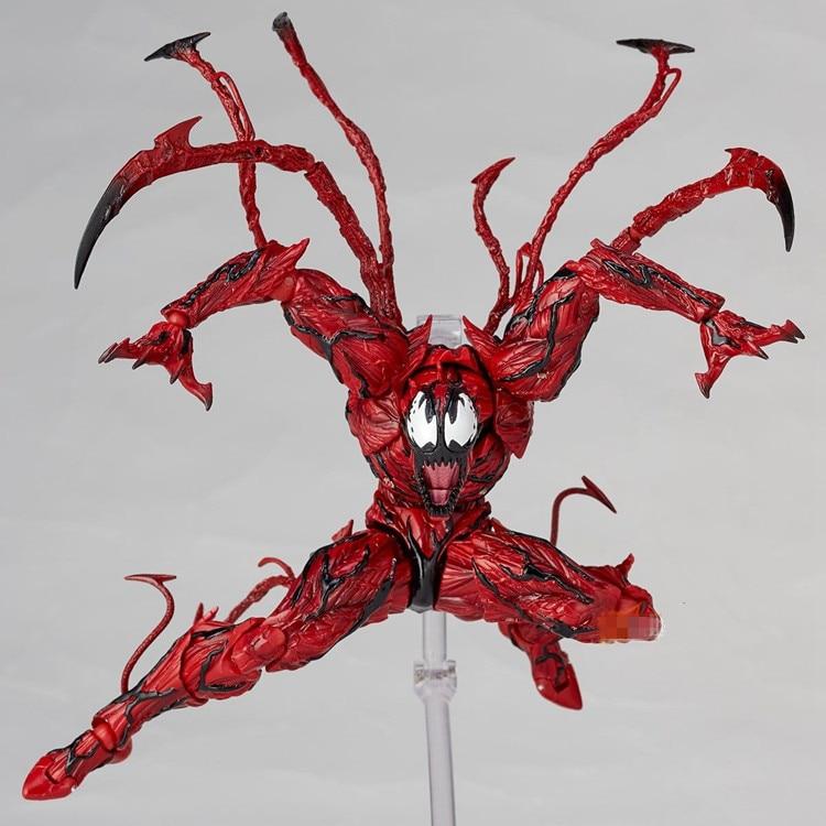Marvel Red Venom Carnage en la película The Amazing SpiderMan BJD Joint movible Action Figure Model Toys