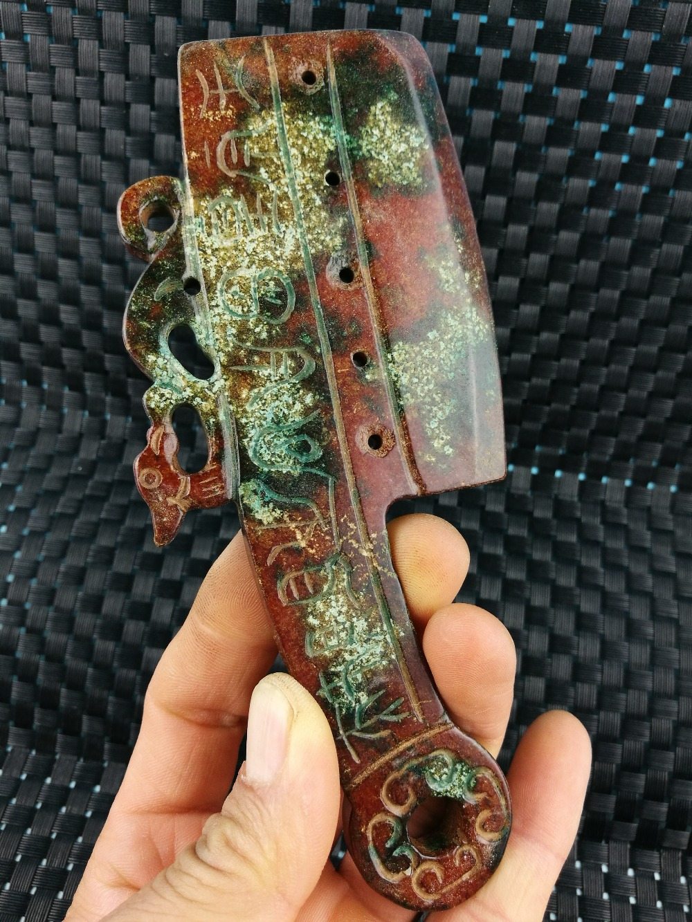 CHINESE FOLK OLD Collection Old Jade type Traditional jade knife money