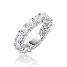 QYI Wedding Bands 925 Sterling Silver Engagement ring Superior grade zircon Bridal Rings White Gold Color Women Gift