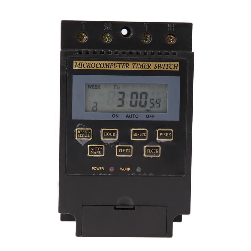 1 Stück Digital Ac 220 V Digital Lcd Mikrocomputer Timer Schalter Programmierbare Digitale Zeit Relais Controller Kg316t 1 Min- 168 H