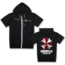 Resident Evil Umbrella corporation LOGO Print Men 2018 Male Hip Hop Hoodie Casual