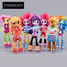 цены Whole sale Price 13cm little Cute Magic Princess Luna Celestia Rainbow Horse Poni Action Figurine Dolls for Girl Unicorn doll