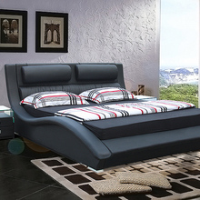 designer modern real genuine leather bed / soft bed/double b